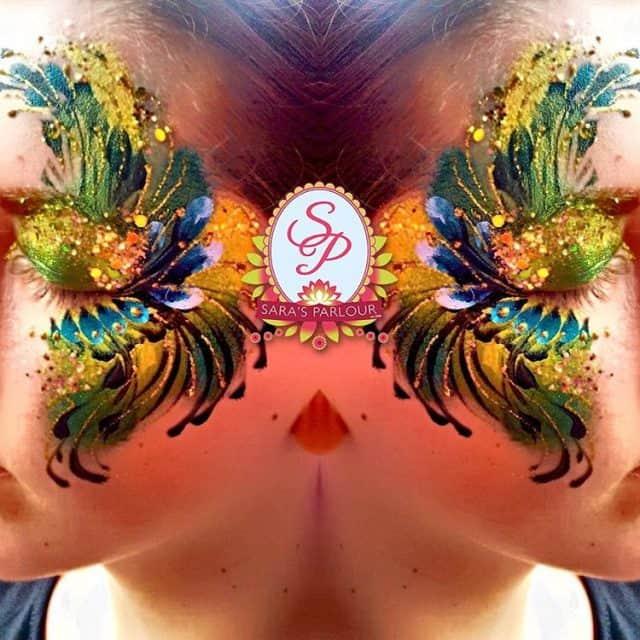 Festival eyes facepaint chunkyglitter glitter pretty festival ladies art artisthellip