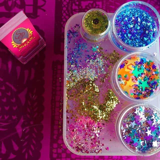 festival facepaint sequins gems chunkyglitter glitter pretty festival art artisthellip